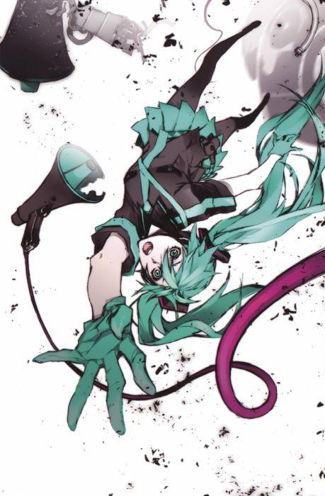 Vocaloid Hatsune Miku Love is War pantyhose Miwa Shirow wallpaper