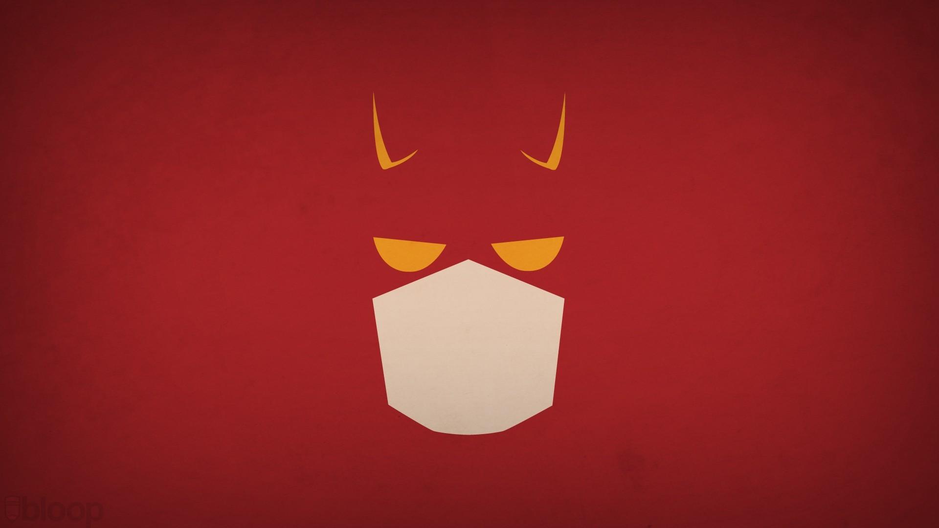 Minimalistic Superheroes Daredevil Red Background Blo0p