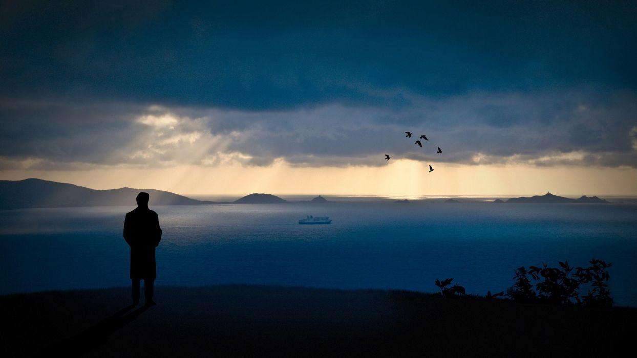 lonely sea wallpaper