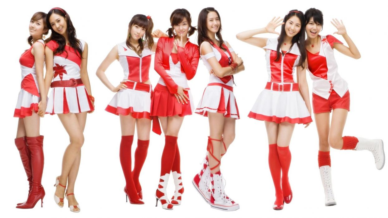 women cosplay Girls Generation SNSD skirts celebrity high heels Asians Seohyun Korean singers Jessica Jung Kim Taeyeon Kwon Yuri Im YoonA Choi Sooyoung K-Pop Tiffany Hwang bangs wallpaper