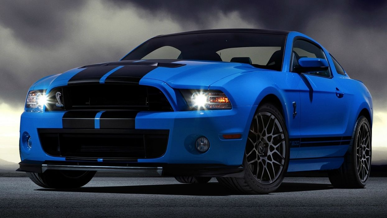 blue cars vehicles Ford Mustang Ford Shelby Ford Mustang Shelby GT500 wallpaper