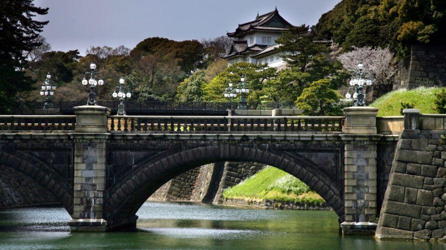 Japan architecture bridges wallpaper