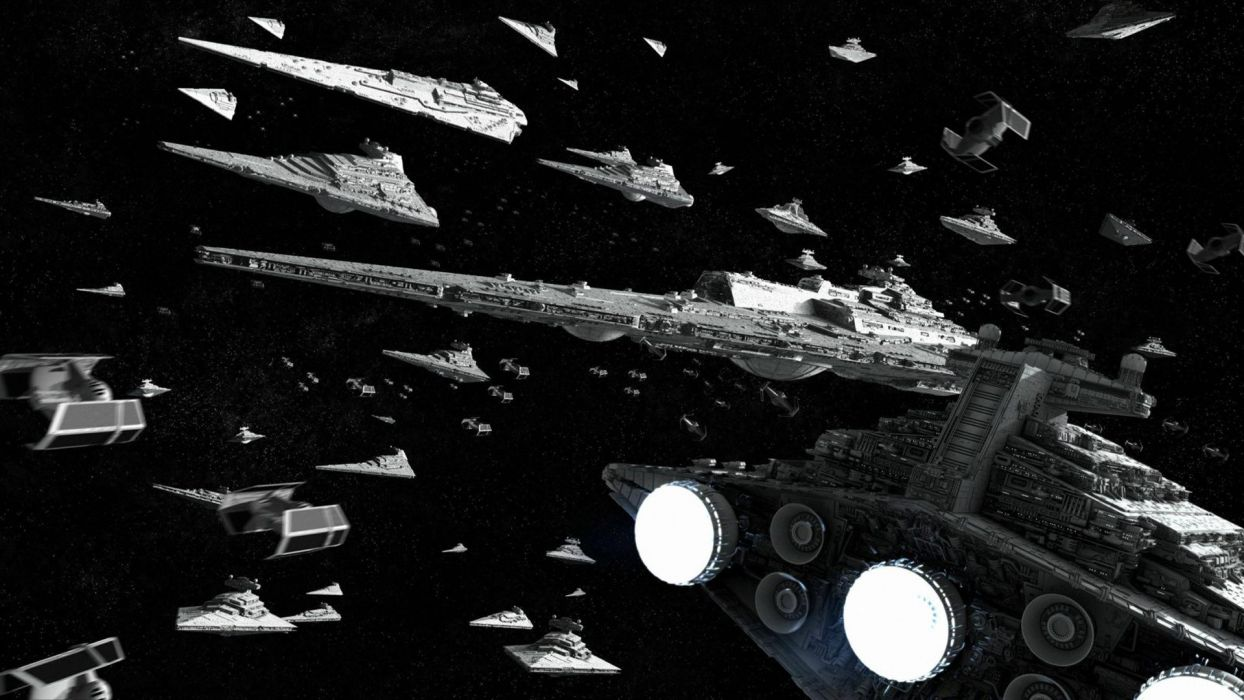 Star Wars outer space spaceships Galactic Empire wallpaper