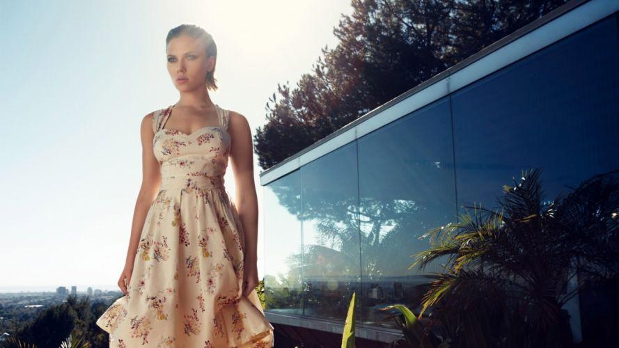 brunettes women Scarlett Johansson actress celebrity wallpaper