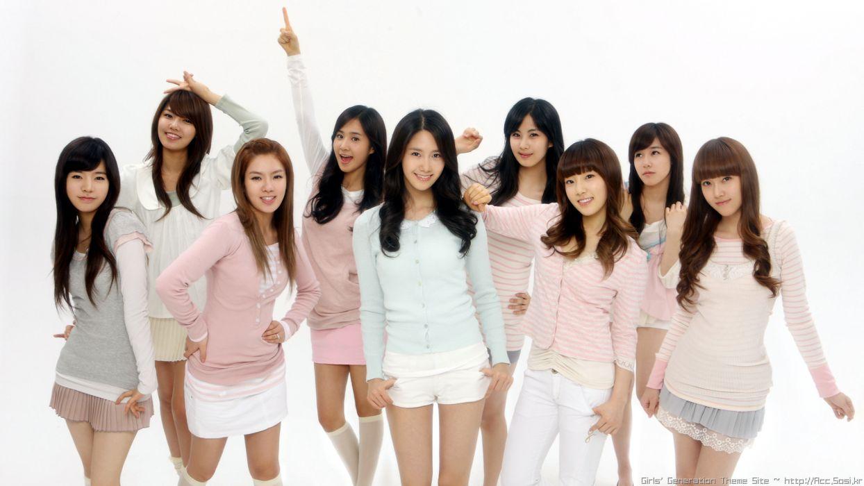 brunettes women Girls Generation SNSD celebrity Asians Seohyun Korean singers Jessica Jung Kim Taeyeon Kwon Yuri Im YoonA Kim Hyoyeon Choi Sooyoung Lee Soon Kyu Tiffany Hwang bangs wallpaper