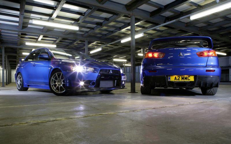 cars Mitsubishi Mitsubishi Lancer Evolution X blue cars wallpaper