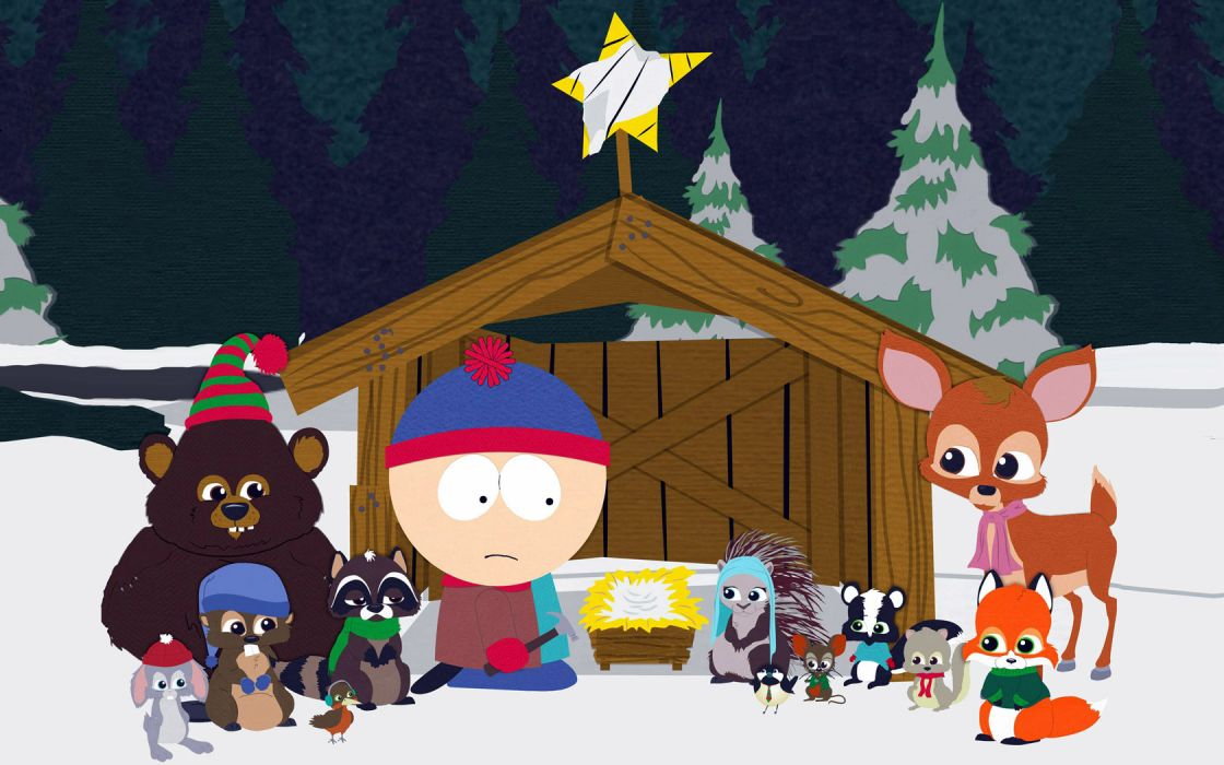 cartoons South Park Christmas critters Stan Marsh wallpaper