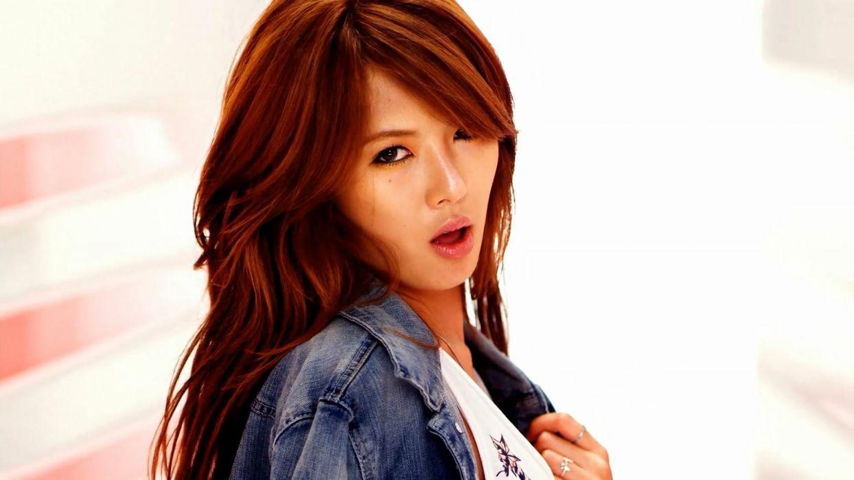 women redheads Asians Hyuna wallpaper