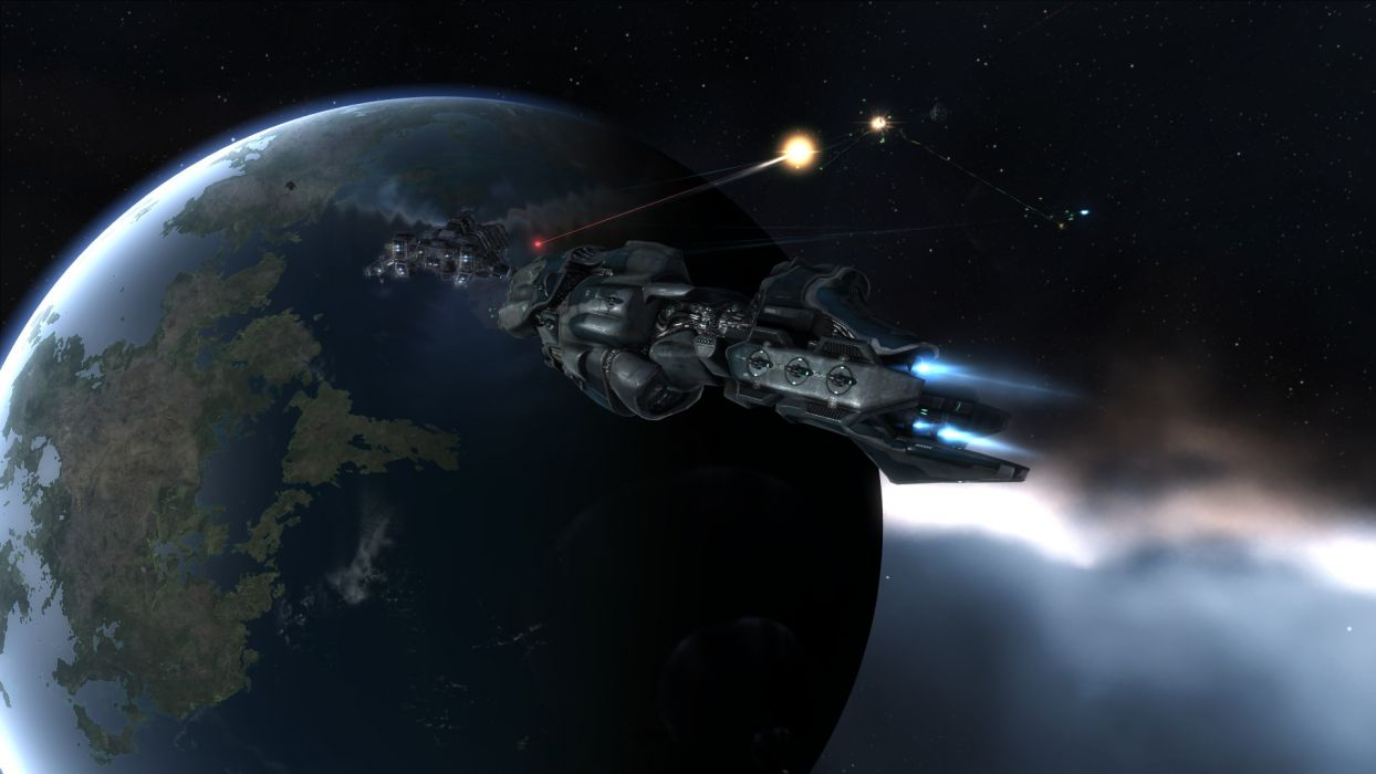 video games outer space planets EVE Online Drake Proteus wallpaper