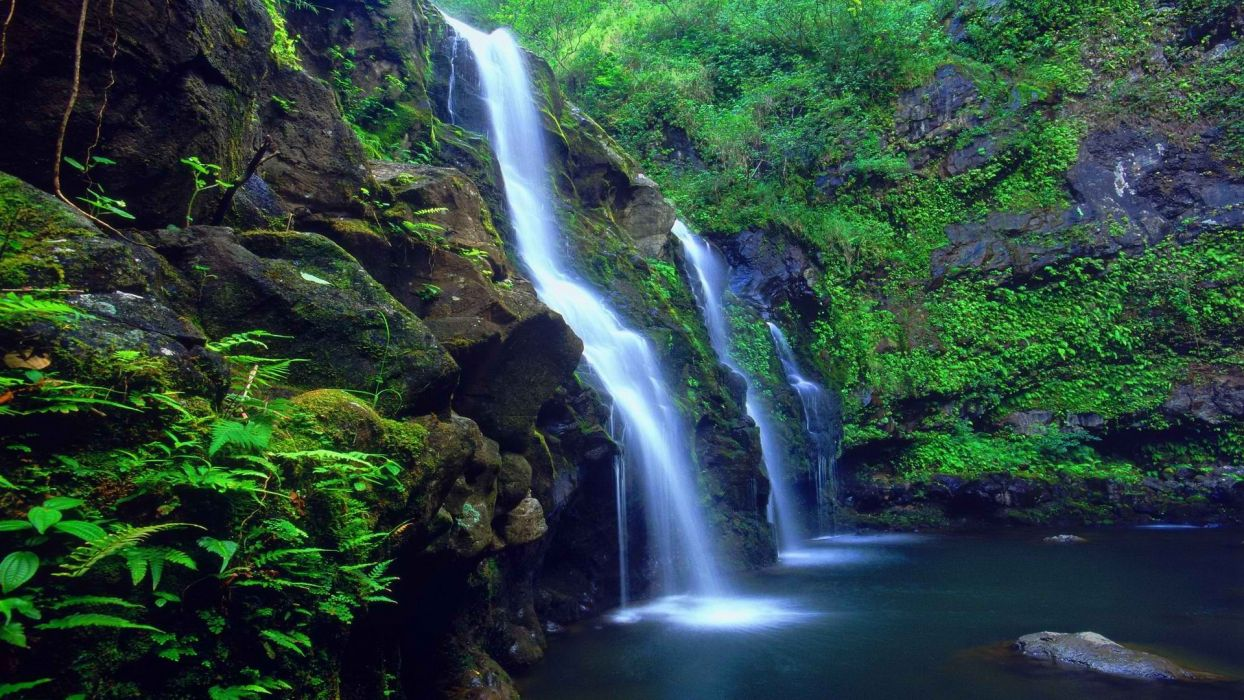 Hawaii falls islands wallpaper 1920x1080 191823 - Waterfalls desktop wallpaper forest falls ...