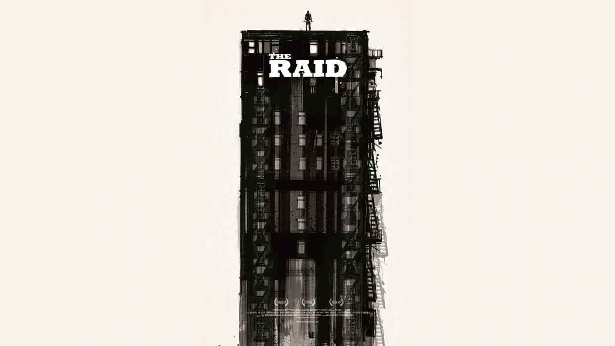 minimalistic movies fan art The Raid wallpaper