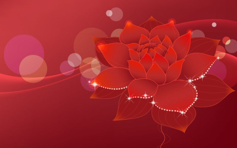 abstract nature red flowers wallpaper