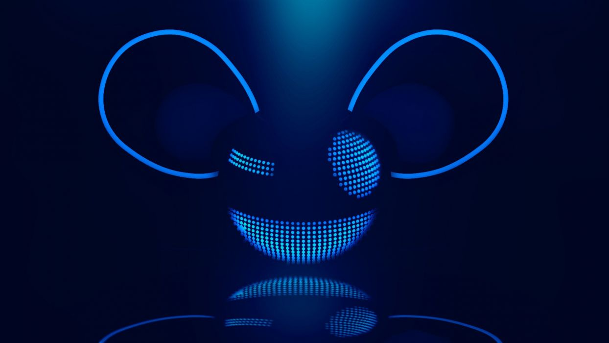 blue music Canada Deadmau5 logos DJ  wallpaper