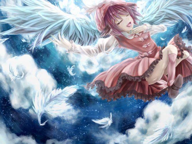 Touhou wings Mystia Lorelei anime girls wallpaper