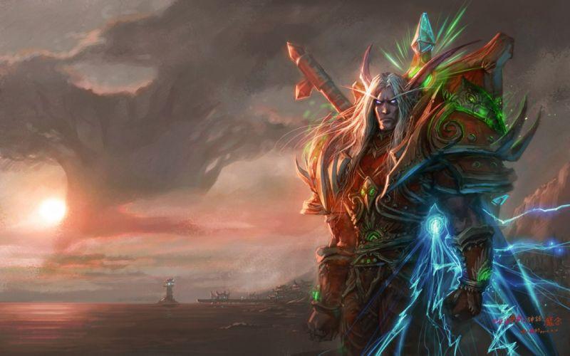 video games World of Warcraft Blood Elf fantasy art armor artwork Yaorenwo wallpaper