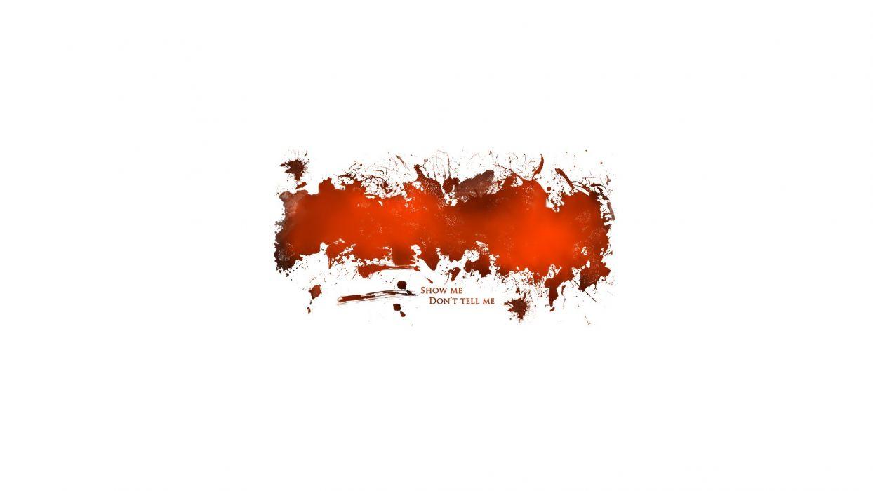 Abstract white orange design digital art artwork backgrounds ... for Simple White And Red Wallpaper Designs  131fsj