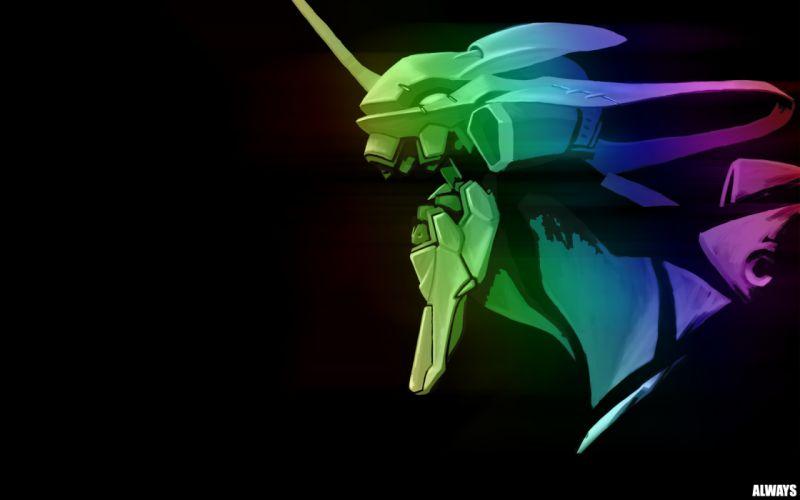 Neon Genesis Evangelion EVA Unit 01 simple background wallpaper