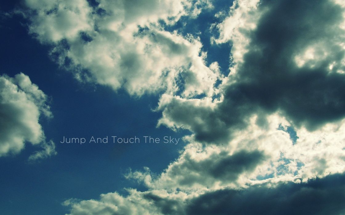 clouds jumping skyscapes wallpaper