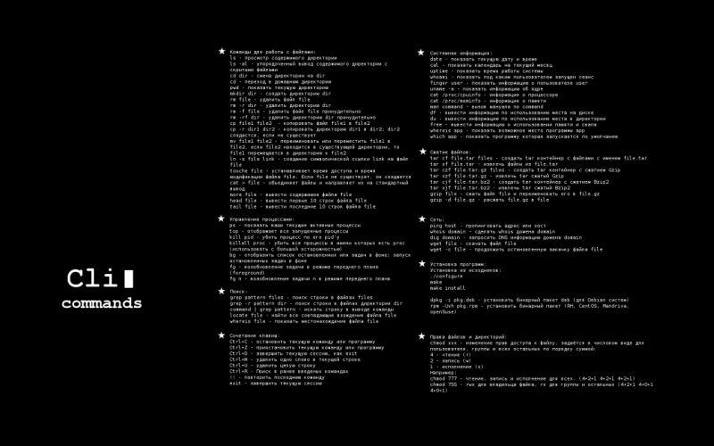 Linux cheatsheet Russian wallpaper