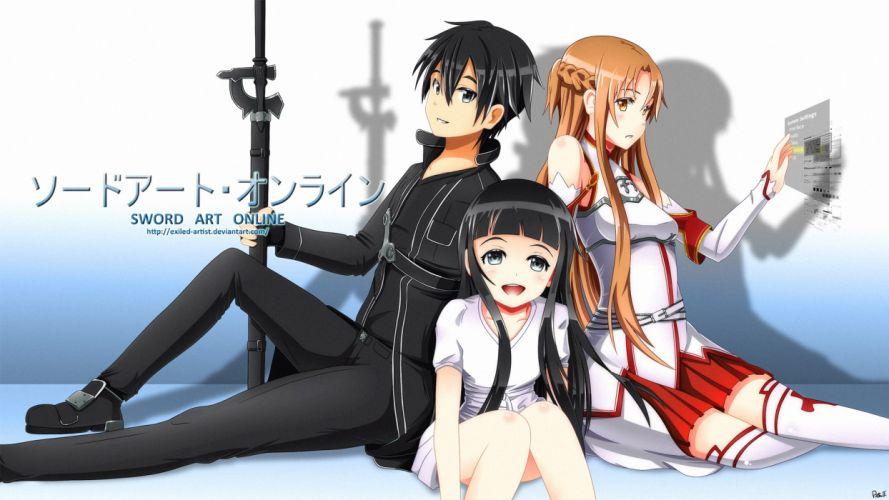 DeviantART Sword Art Online Yuuki Asuna Kirigaya Kazuto Yui-MHCP001 wallpaper