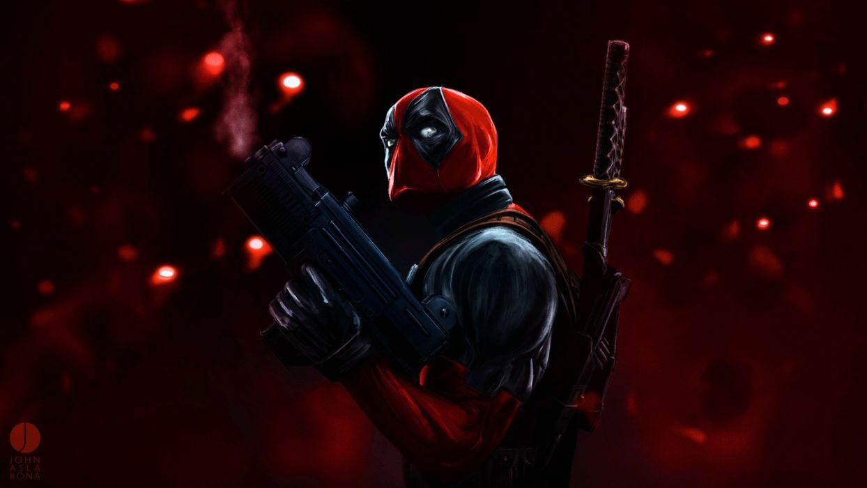 comics Deadpool Wade Wilson artwork Marvel Comics wallpaper