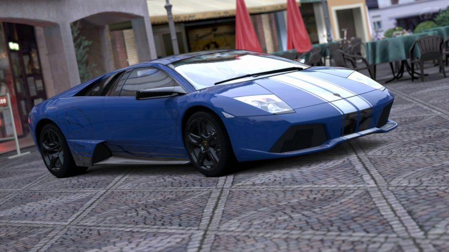 video games cars Lamborghini Murcielago Gran Turismo 5 Playstation 3 wallpaper