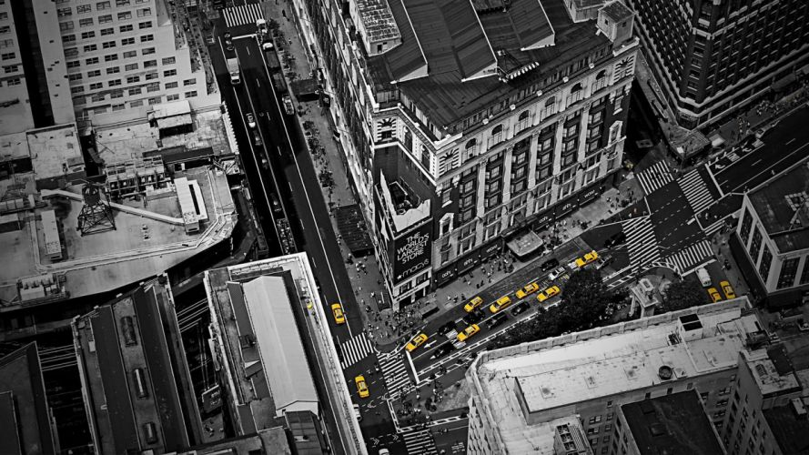 cities driver Yellow cab wallpaper