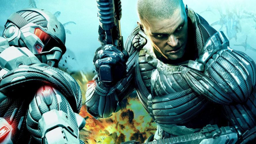 video games explosions Crysis wallpaper