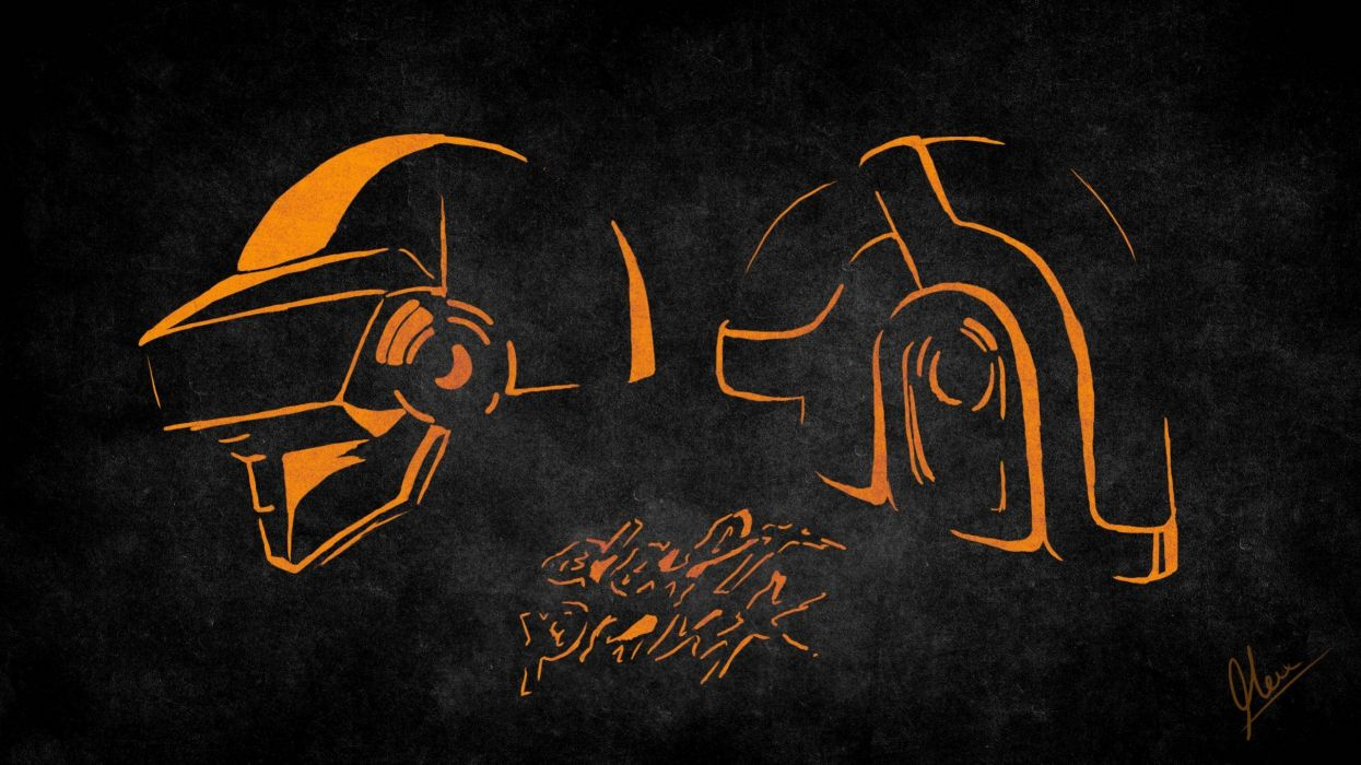 Daft Punk masks artwork musican electronic music wallpaper