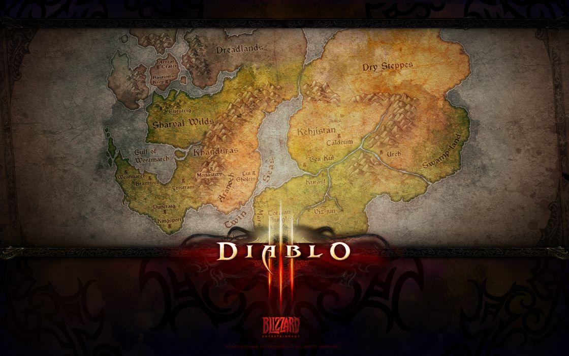 video games Diablo maps Diablo III wallpaper