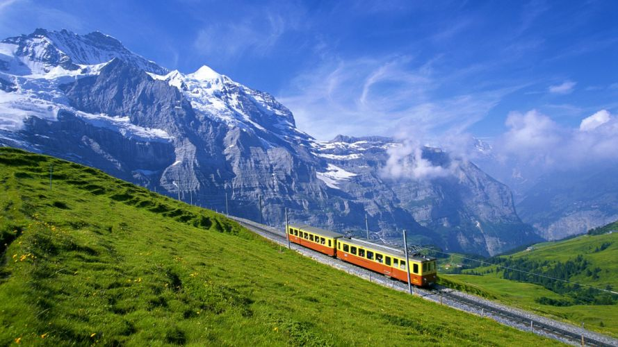 mountains Switzerland Bernese Oberland wallpaper