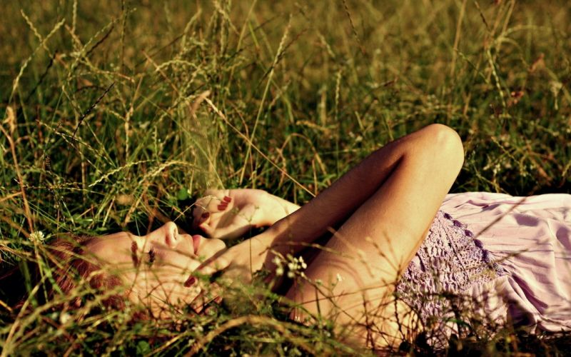 blondes women nature models lying down girls in nature wallpaper