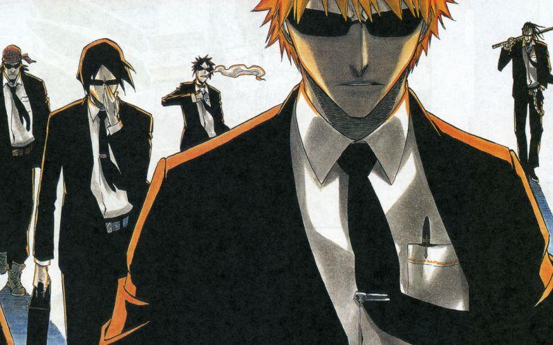 Bleach Kurosaki Ichigo Zaraki Kenpachi sunglasses Hisagi Shuuhei Ishida Uryuu Shiba Ganjyu wallpaper
