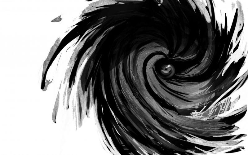 Naruto: Shippuden Sharingan grayscale Tobi wallpaper
