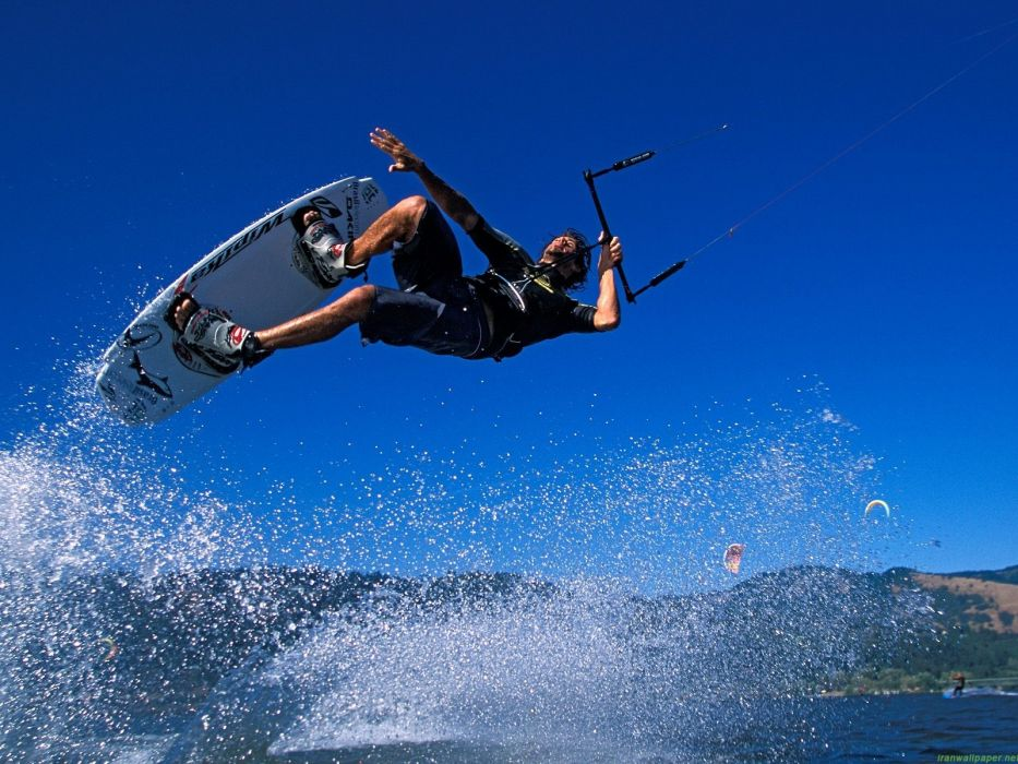water sports kitesurfing kitesurf sea wallpaper