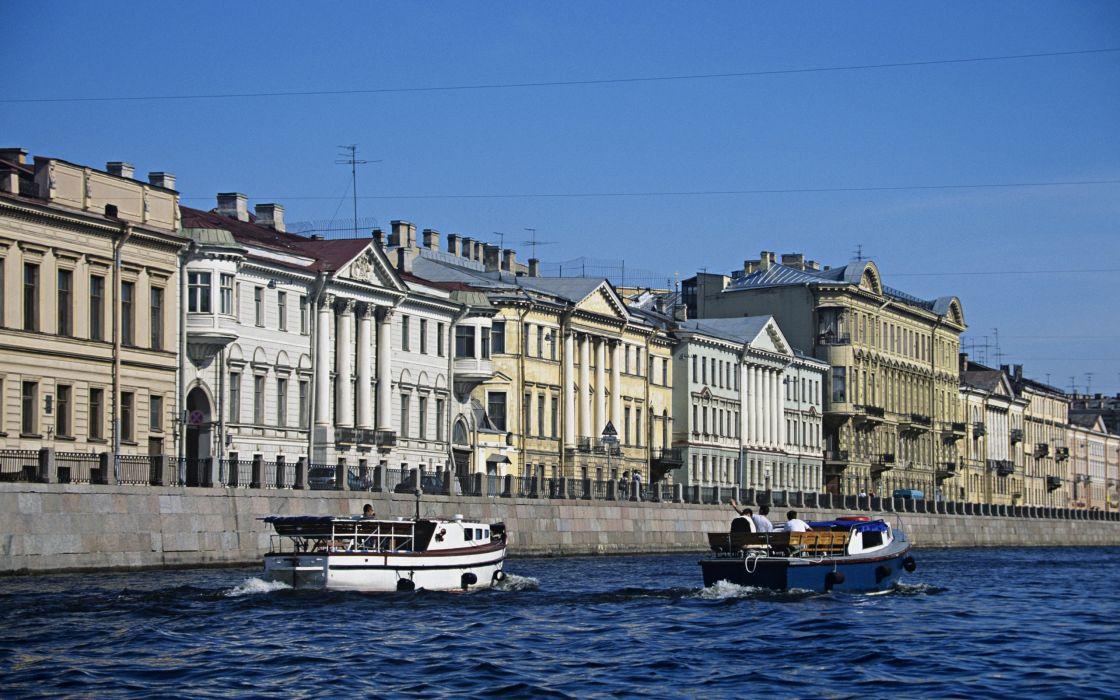 cityscapes architecture Europe boats sea wallpaper