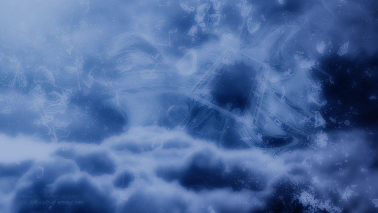 blue clouds love dark design patterns templates textures