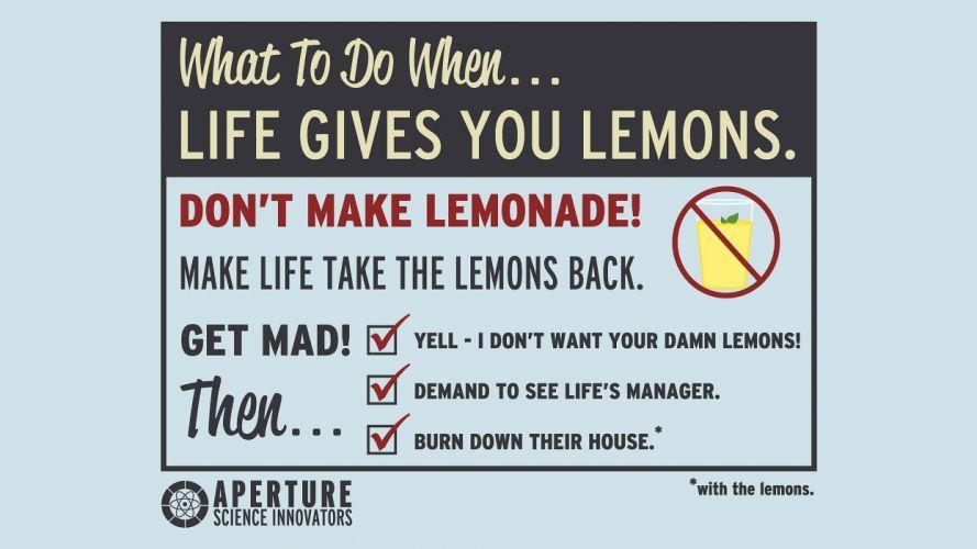 Portal Cave Johnson lemons wallpaper