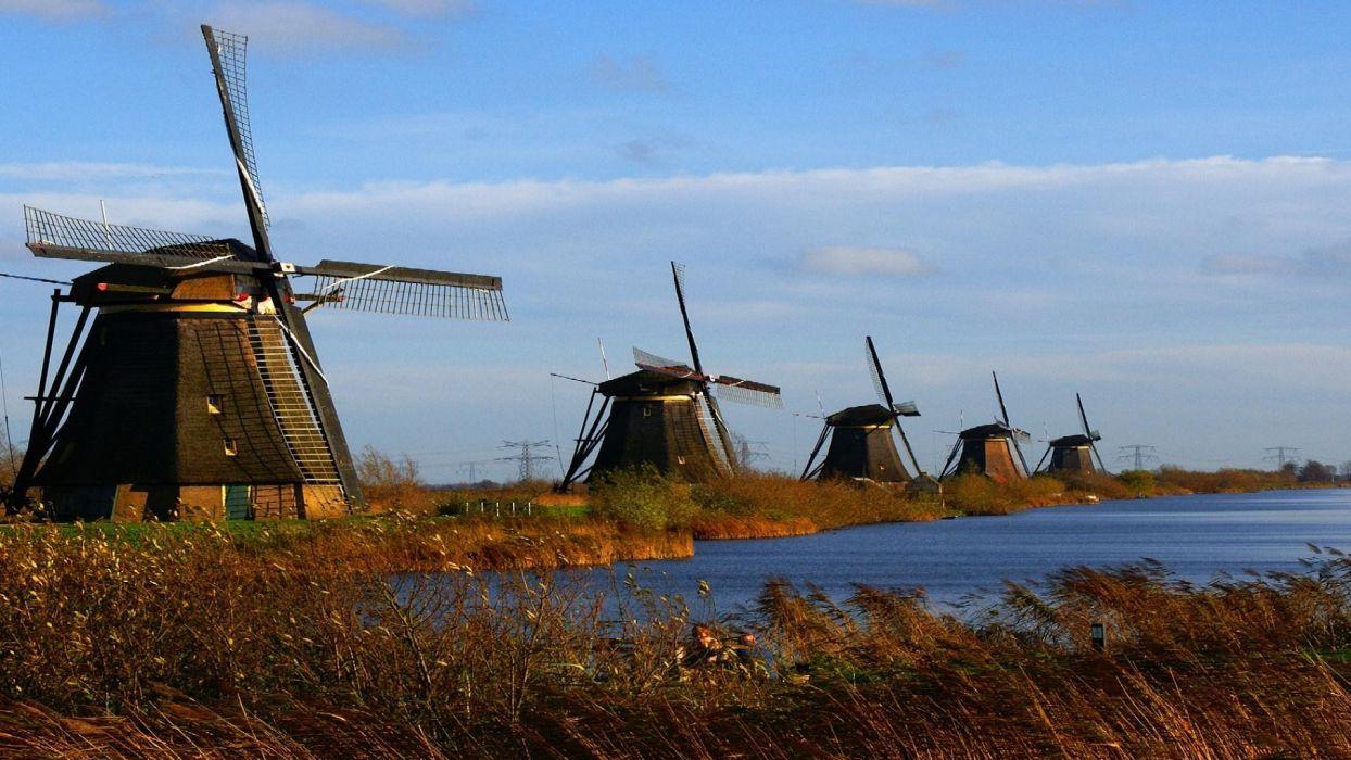 nature station wind windmills wallpaper