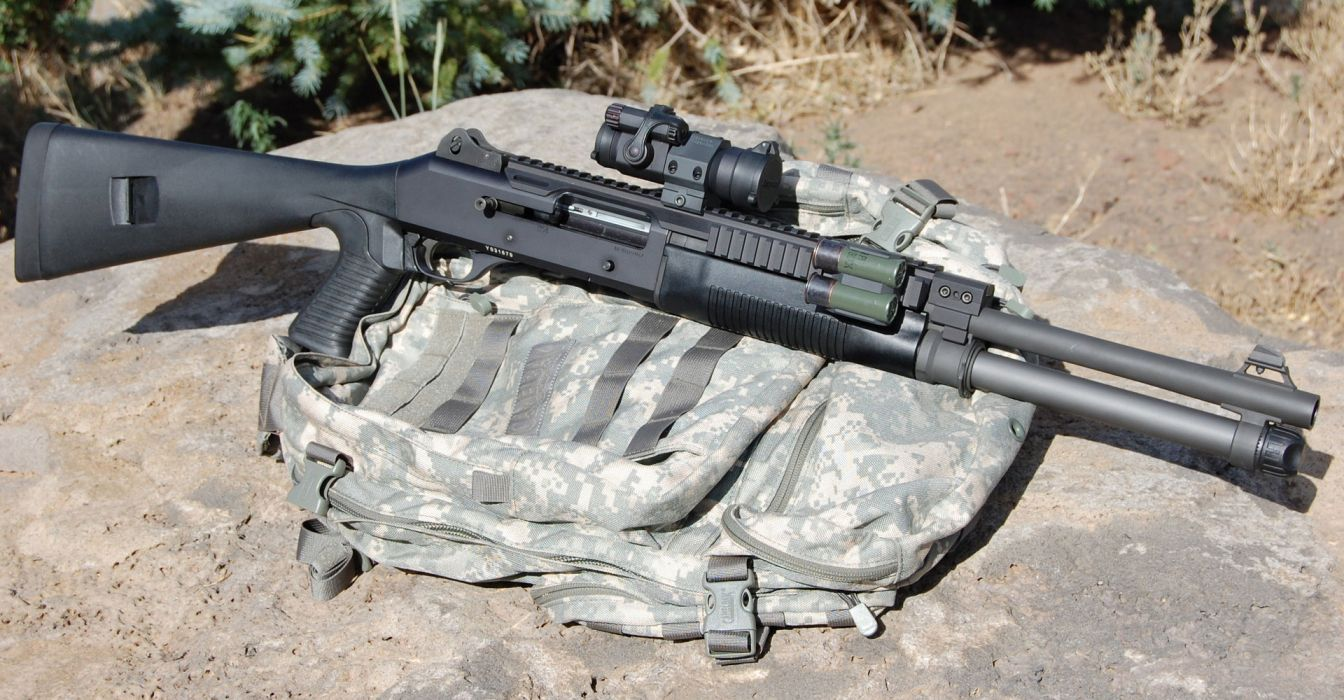 Benelli M-4 super90 weapon gun military shotgun    t wallpaper