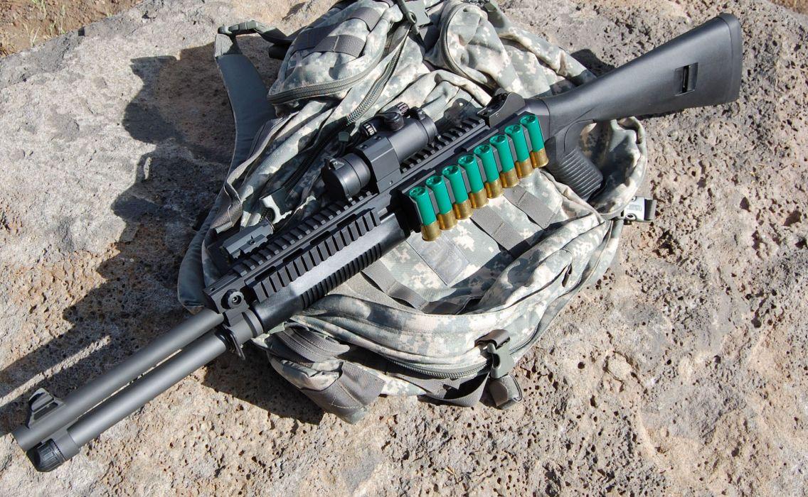 Benelli M-4 super90 weapon gun military shotgun ammo      hh wallpaper