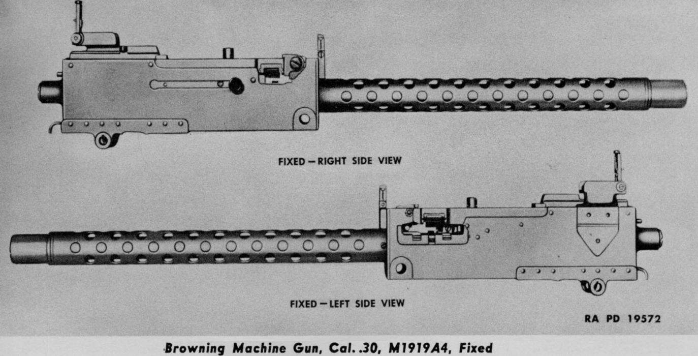 BROWNING 1919a4 Machine Gun weapon military rifle    t wallpaper