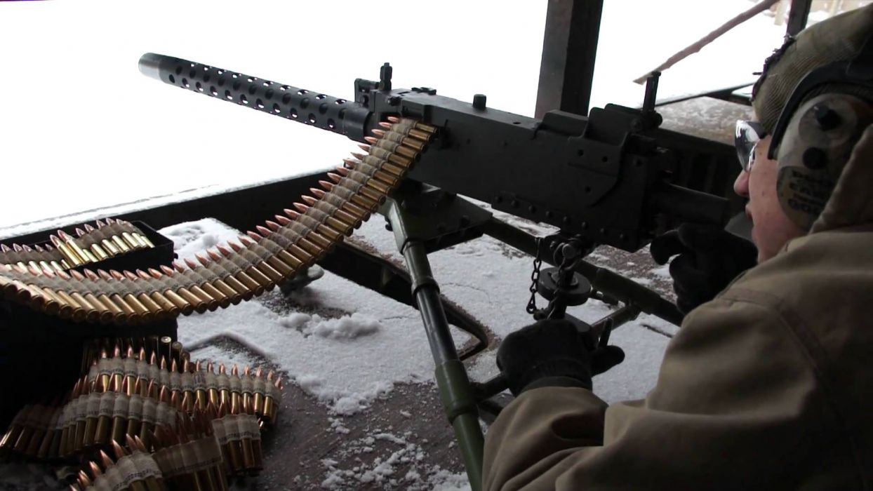 BROWNING 1919a4 Machine Gun Weapon Military Rifle Ammo F Wallpaper
