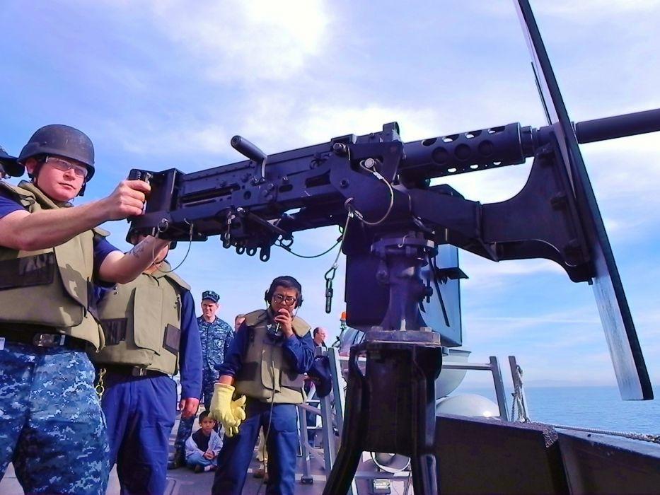 BROWNING M-2 50-cal Machine Gun weapon military rifle     t wallpaper