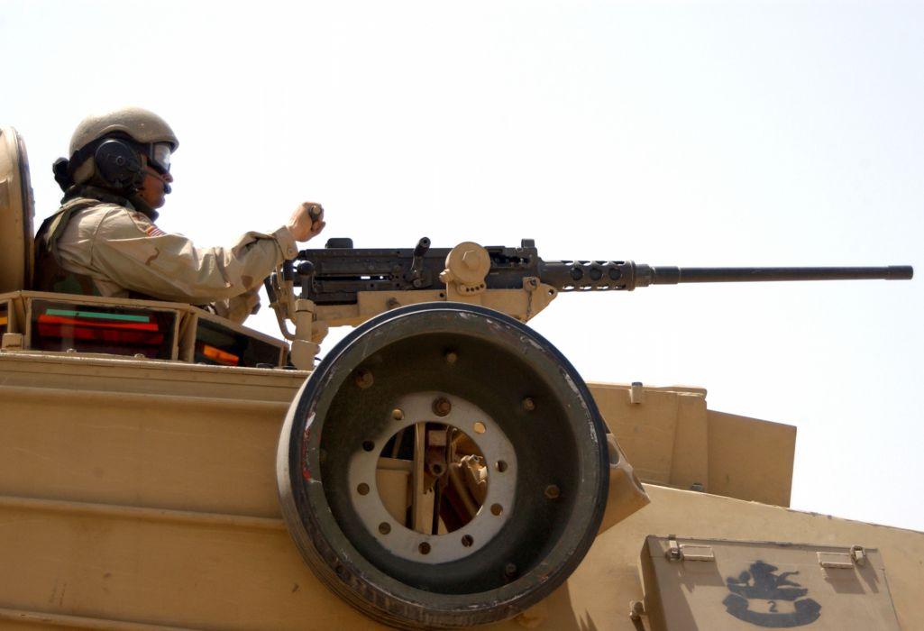 BROWNING M-2 50-cal Machine Gun weapon military rifle     te wallpaper
