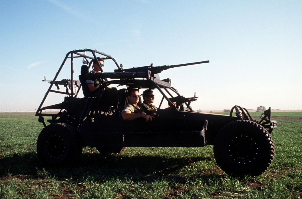 BROWNING M-2 50-cal Machine Gun weapon military rifle seal scorpion sandrail dunebuggy soldier offroad    f wallpaper