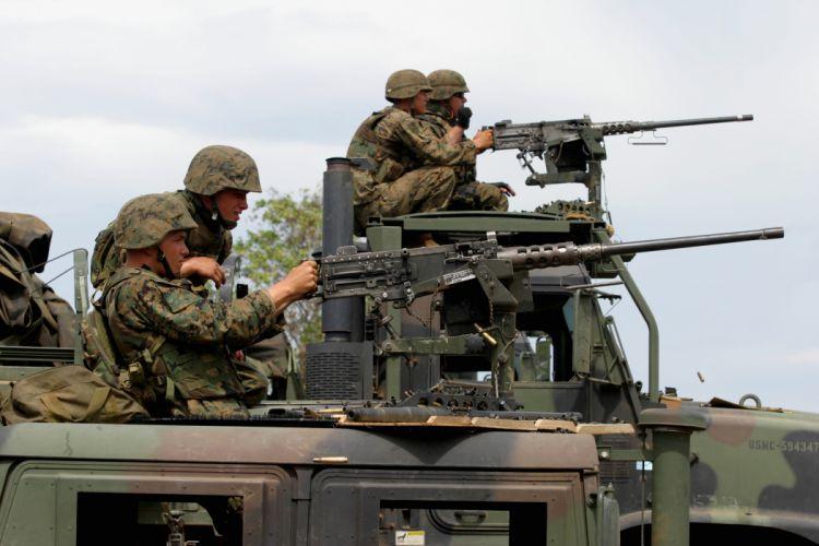 BROWNING M-2 50-cal Machine Gun weapon military rifle soldier r wallpaper