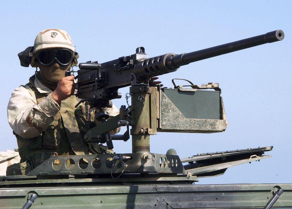 BROWNING M-2 50-cal Machine Gun weapon military rifle soldier    y wallpaper