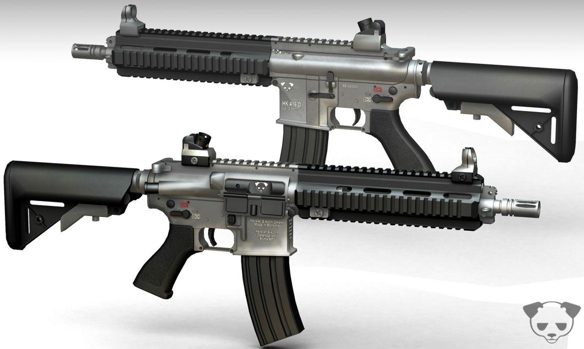 Heckler & Koch 416 weapon gun military rifle      gd wallpaper