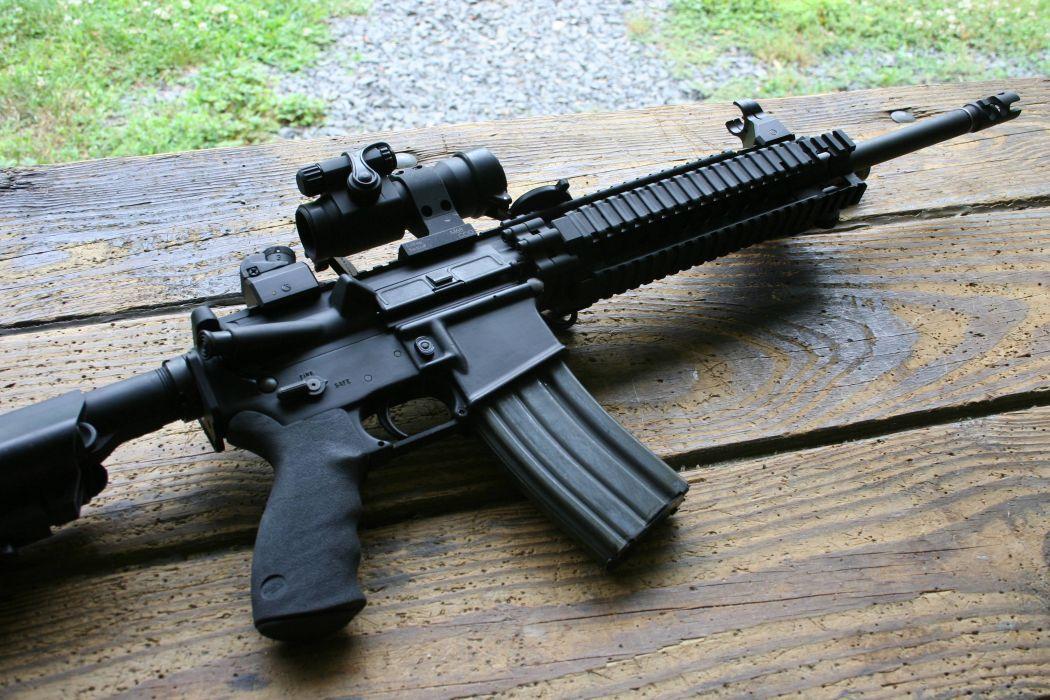 Heckler & Koch 416 weapon gun military rifle    d wallpaper